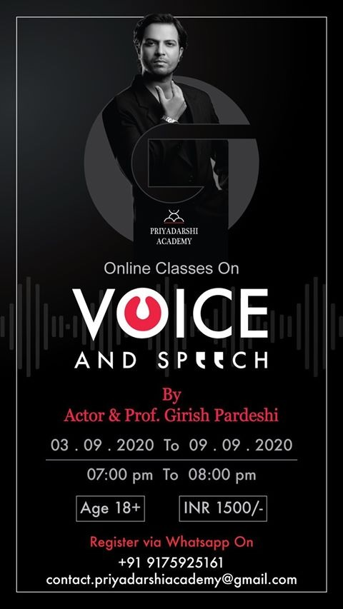 Online Classes On Voice and Speech by Actor & Prof. Girish Pardeshi